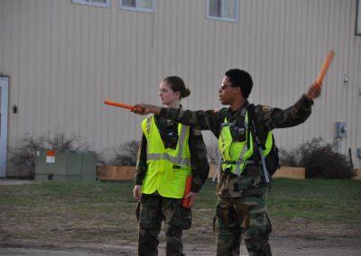 Flight line marshalling practice