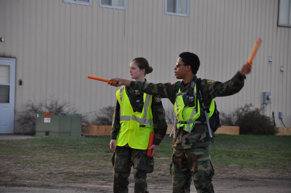Flight line marshalling practice
