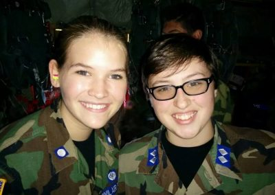 Cadets Izabella Raleigh (l) and Caitlin Albright