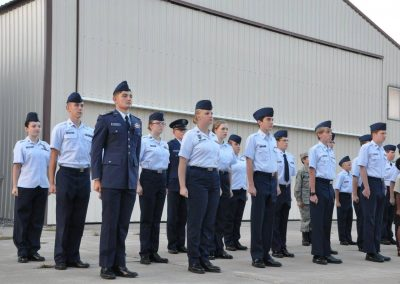 Cadets in Formation Blues