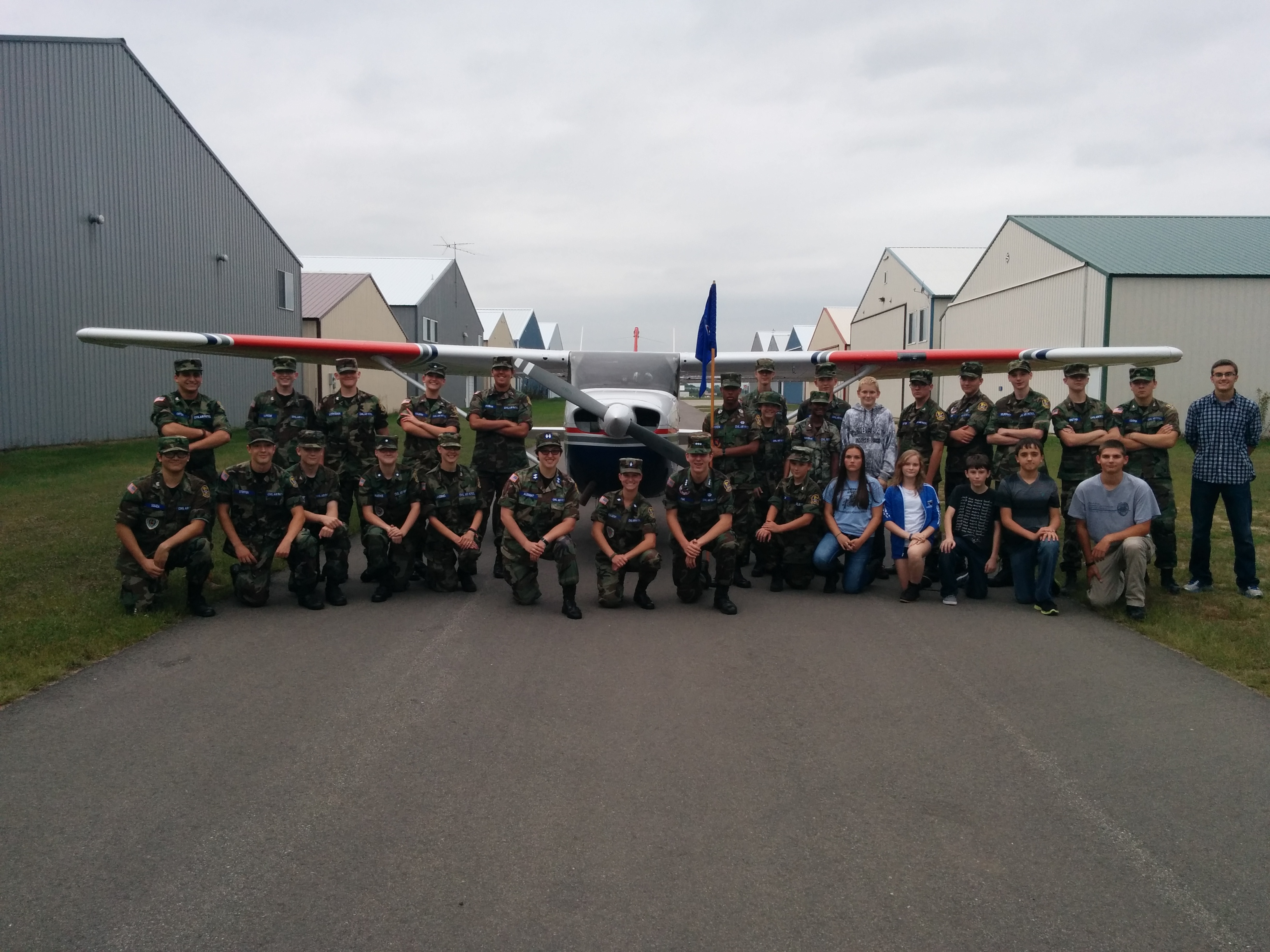 Anoka cadets and our CAP plane