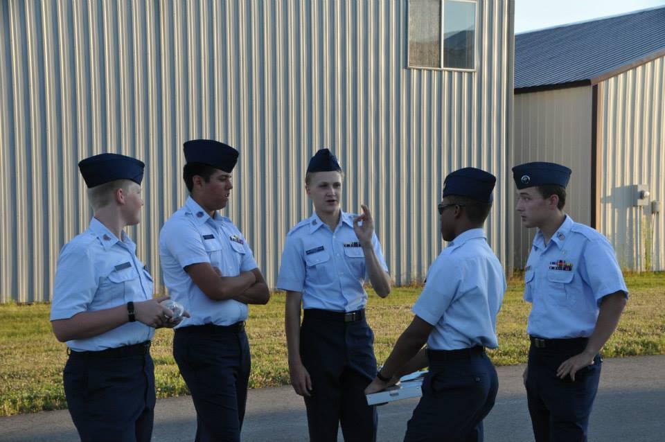 Cadet Staff discuss coordinating activities