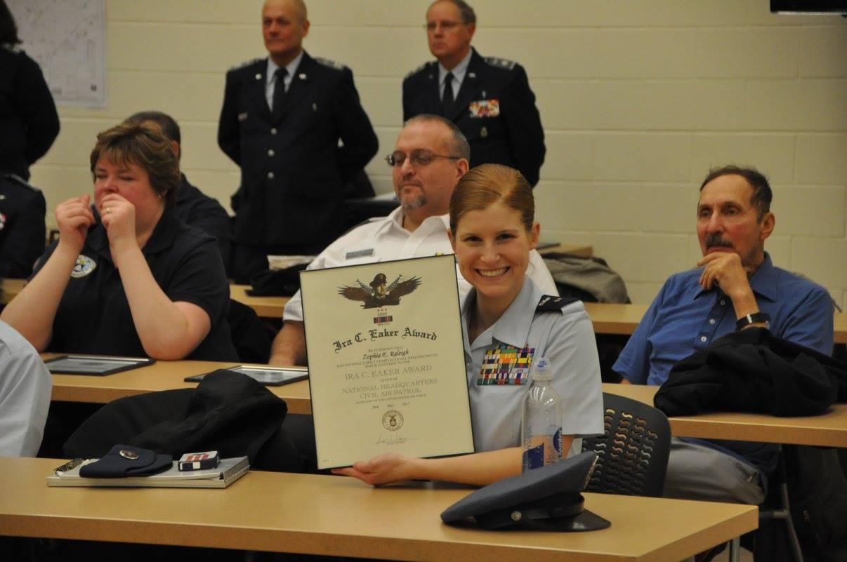 Cadet Zophia Raleigh earns the Eaker Award