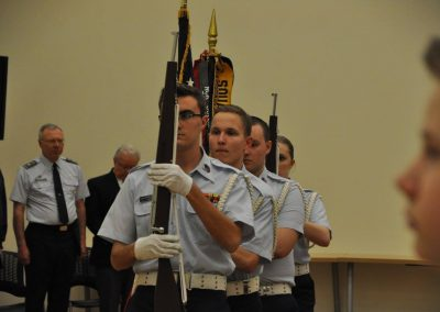 Anoka Color Guard presents colors