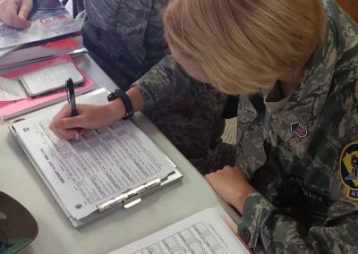 Cadets manage o-flight paperwork