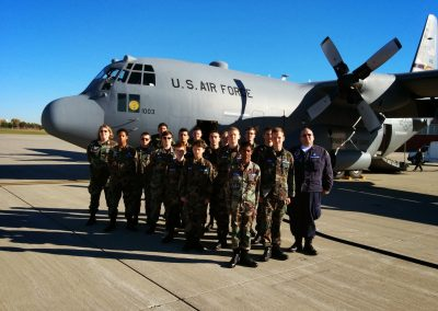Anoka preparing for a C-130 military flight