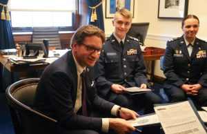 CAP Cadets with Dean Phillips